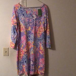 Net Lilly Pulitzer 3/4 sleeve dress .